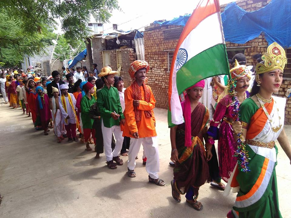 Republic Day Celebrations in Slums